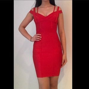 Red Bandge Dress
